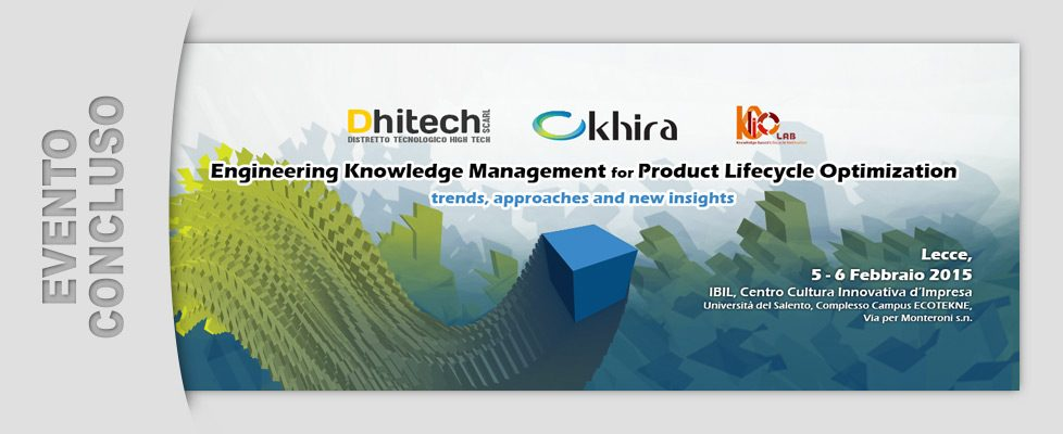 Engineering Knowledge Management for Product Lifecycle Optimization (5 - 6/02/2015)