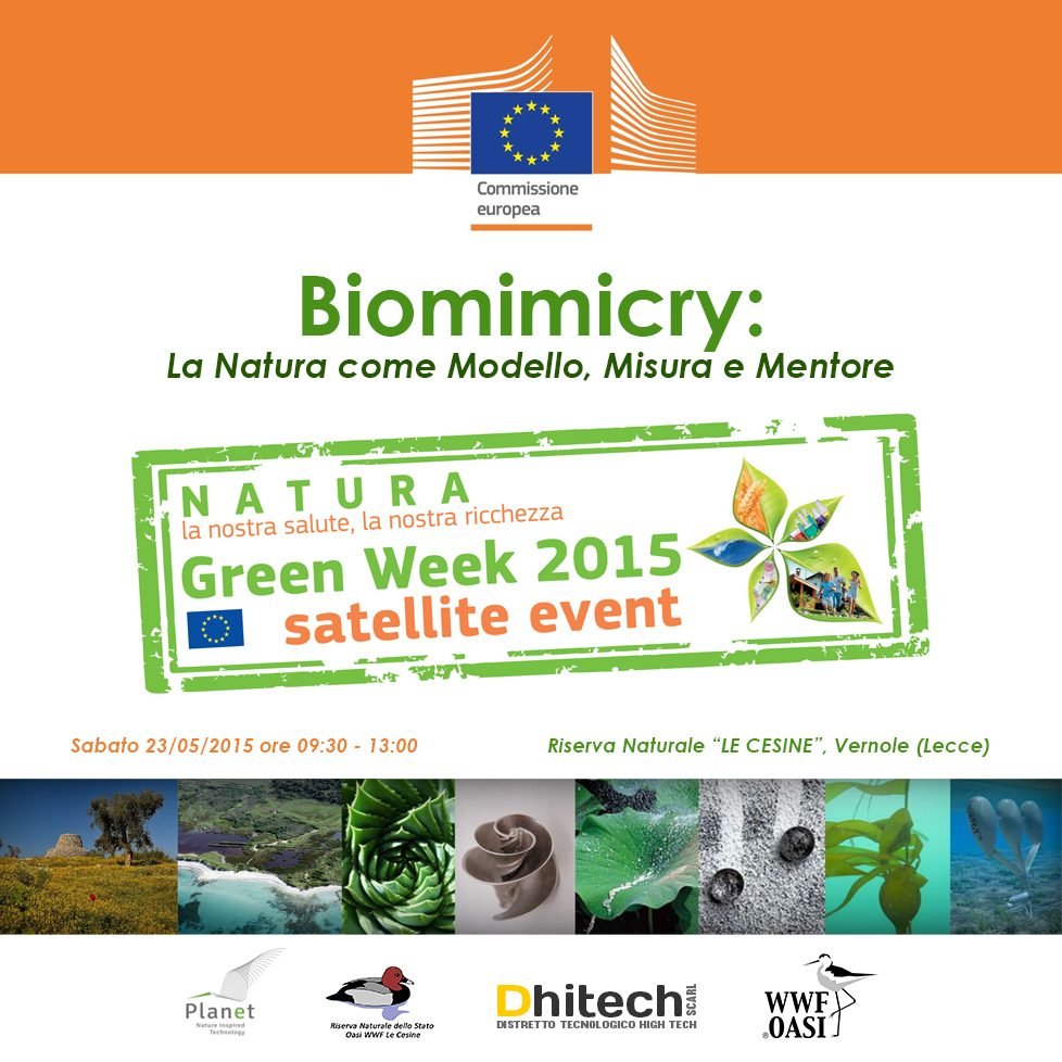 Locandina-Evento-Dhitech-Greenweek-Cesine-Biomimicry-2015-web